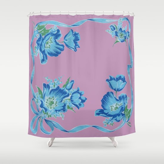Pink And Blue Shower Curtain By Nancy Smith Society6