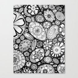 Stone doodle Canvas Print