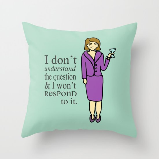 Lucille Bluth Throw Pillow