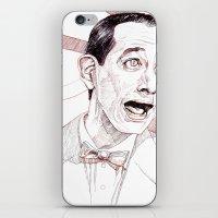 pee wee iPhone & iPod Skins featuring Pee Wee Herman by Aaron Bir by Aaron Bir