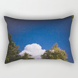 Sweet Dreams - Big White Cloud - Night Sky Stars Night Photography Rectangular Pillow