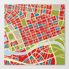 Vintage Style Map of Melbourne Canvas Print