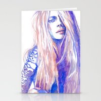 cara Stationery Cards featuring Cara by Ava Carmen