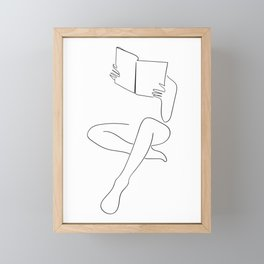 Reading Naked n.3 Framed Mini Art Print