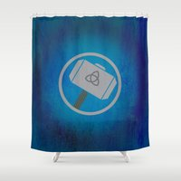 thor Shower Curtains featuring Thor by Some_Designs