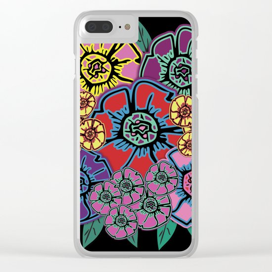 Abstract #408 Flower Power #10 Clear iPhone Case