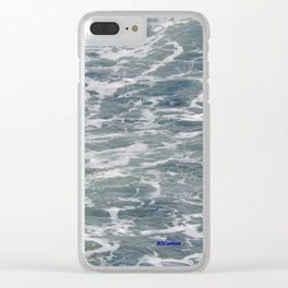 TEXTURES -- Ferry Wake in Puget Sound Clear iPhone Case