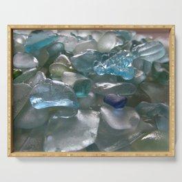 Ocean Hue Sea Glass Assortment Serving Tray