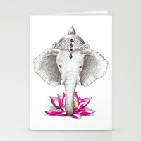 ganesh Stationery Cards featuring Ganesh by Tammy Liu-Haller