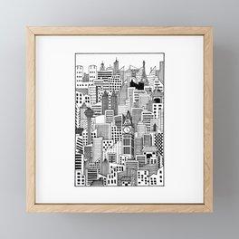 Bustling Cityscape Framed Mini Art Print
