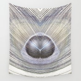 Peacock Feather Symmetry iii Wall Tapestry