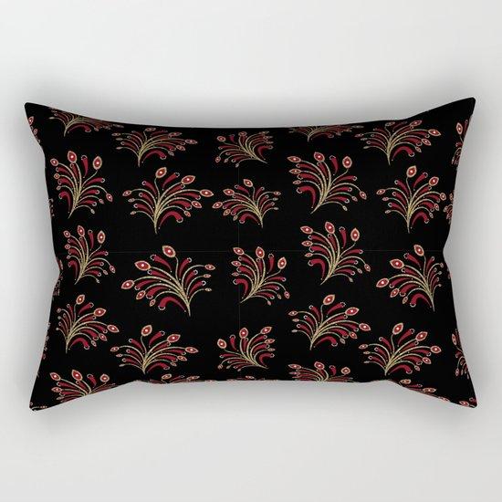 Golden red ornament seamless pattern Rectangular Pillow