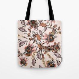 Tropical drawings of pasiflora flowers Tote Bag