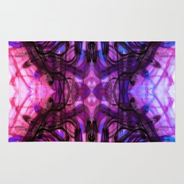 Dreaming Deeply Wavy Abstract Pattern Rug