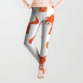 Orange Fox Leggings