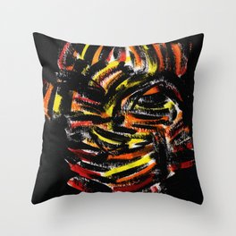 The Devil Painting Acrylic on Paper Throw Pillow