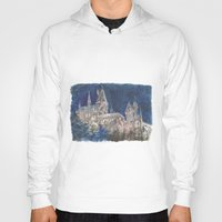 hogwarts Hoodies featuring Hogwarts Painting  by Christina Brunnock