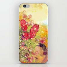 Colorful Flower Basket Painterly Abstract and Free Spirited iPhone & iPod Skin