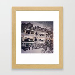 Reflection of Houses Framed Art Print