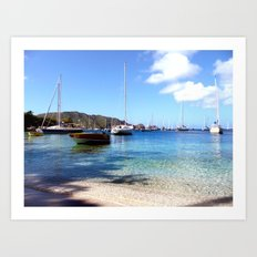 bequia harbor Art Print