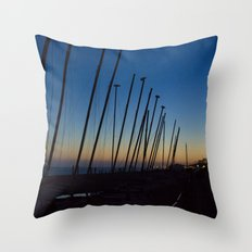 Boats in The Night Throw Pillow