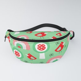 Kids birds rainbow garden Fanny Pack