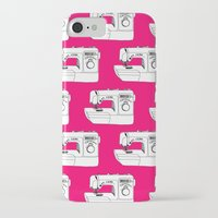 sewing iPhone & iPod Cases featuring Sewing Machine by The Wellington Boot