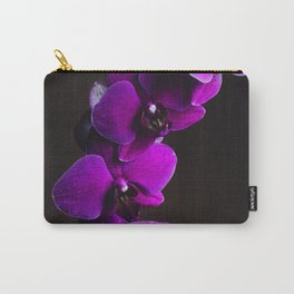 Purple Flowers (Color) Carry-All Pouch