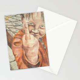 You fucked up my playground Stationery Cards