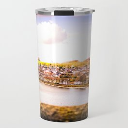 Cityscape Möhne From Reservoir Barrage Wall bright Travel Mug