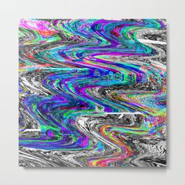 Abstract Portrait of a Migraine Aura 1 Metal Print