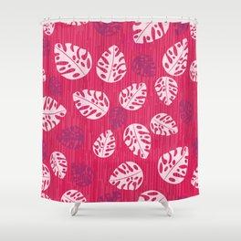 Tropical leaf pattern Shower Curtain