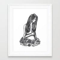 tarot Framed Art Prints featuring Tarot by Amy Brereton