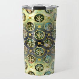 Gold Choku Rei Symbol Reiki Pattern Travel Mug