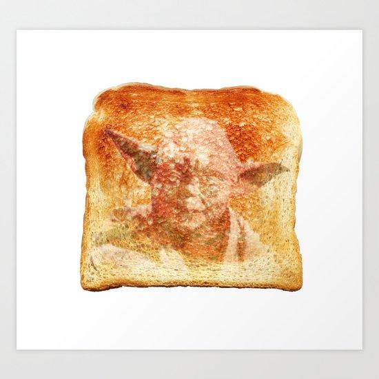 yoda toast Art Print