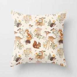 Fawn & Friends Throw Pillow