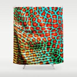 Leopard spot flowers on fabric Shower Curtain