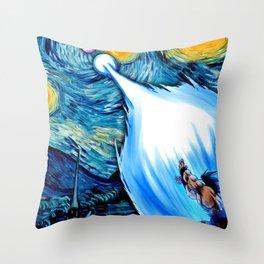 Starry Night(Dbz Space) Throw Pillow