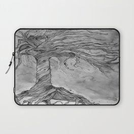 Tree of Life (Grey Scale) Laptop Sleeve