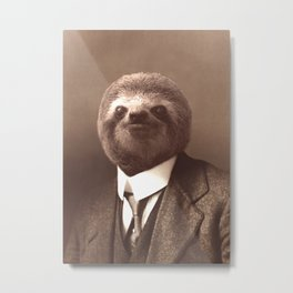 Gentleman Sloth #1 Metal Print