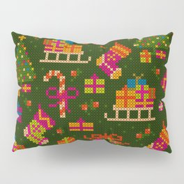 christmas x stitch pattern for the holiday mood Pillow Sham