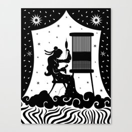 The Weaving Maiden Canvas Print