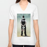 bill V-neck T-shirts featuring the Bill by Vin Zzep