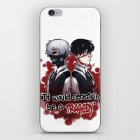 tokyo ghoul iPhone & iPod Skins featuring Tokyo Ghoul TRAGEDY  by lilbutt
