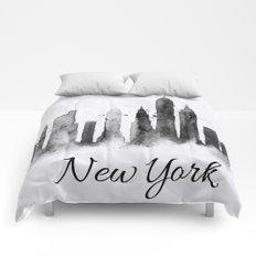 White New York Skyline Comforters