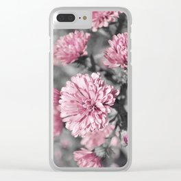Blushing Gray Clear iPhone Case