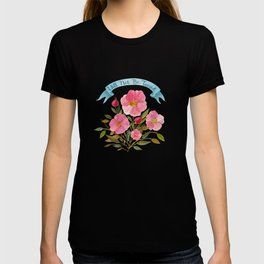 Will Not Be Tamed Floral Watercolor T-shirt