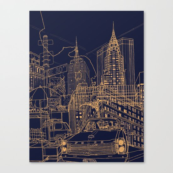 New York! Night Canvas Print