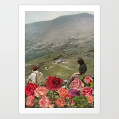 Life is a Bed of Roses Art Print