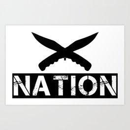 Knife Nation Art Print
